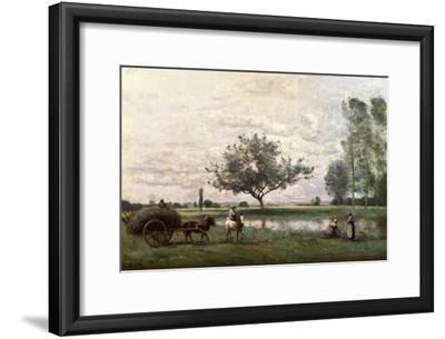 Haycart Beside a River