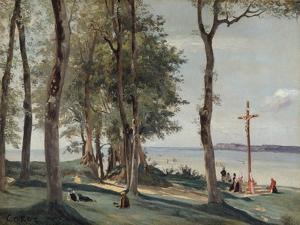 Honfleur: Calvary, c.1830 by Jean-Baptiste-Camille Corot