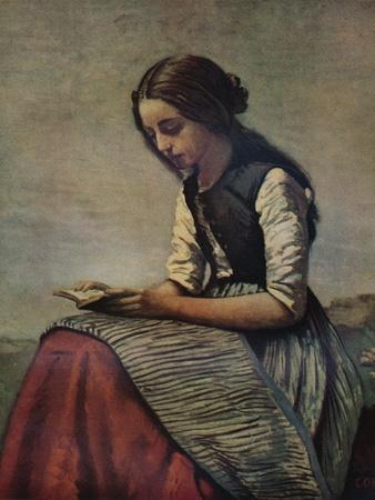 'La petite Liseuse ou Jeune bergère assise et lisant', c1855
