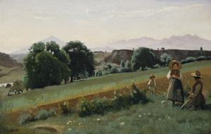 Landscape at Mornex, about 1842 by Jean-Baptiste-Camille Corot