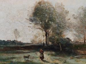 Landscape Or, Morning in the Field by Jean-Baptiste-Camille Corot