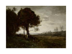 Landscape by Jean-Baptiste-Camille Corot