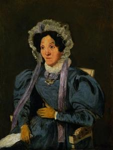 Madame Corot, Mother of the Painter, circa around 1845 by Jean-Baptiste-Camille Corot