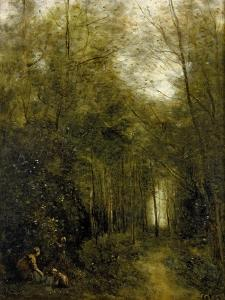 Montfermeuil, the Brook in the Wood, 1867 by Jean-Baptiste-Camille Corot
