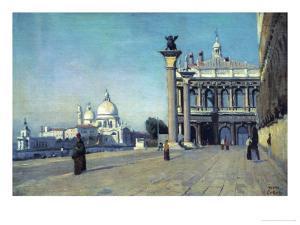 Morning in Venice, 1834 by Jean-Baptiste-Camille Corot