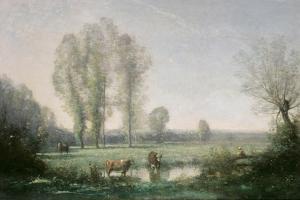 Morning Mist, 1860 by Jean-Baptiste-Camille Corot