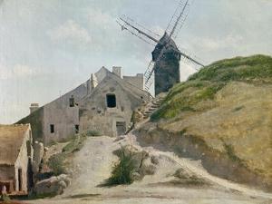 Moulin De La Galette by Jean-Baptiste-Camille Corot