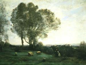 Pastoral Scene by Jean-Baptiste-Camille Corot