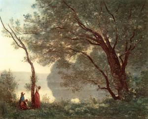 Paysage (Souvenir de Mortefontaine), 1796-1875 by Jean-Baptiste-Camille Corot