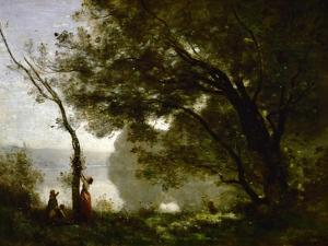 Recollection of Mortefontaine by Jean-Baptiste-Camille Corot