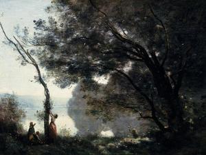 Souvenir De Mortefontaine (Oise, France) (Exhibited 1864) by Jean-Baptiste-Camille Corot