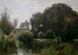 Souvenir of the Villa Borghese, 1855 by Jean-Baptiste-Camille Corot