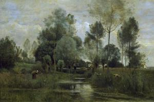 Spring by Jean-Baptiste-Camille Corot