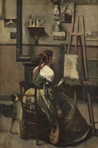 The Artist's Studio, C.1868 by Jean-Baptiste-Camille Corot