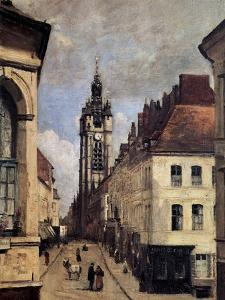 The Belfry of Douai, 1871 by Jean-Baptiste-Camille Corot