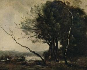 'The Bent Tree', 1855-1860, (c1915) by Jean-Baptiste-Camille Corot