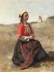 The Breton in Prayer by Jean-Baptiste-Camille Corot