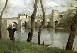 The Bridge at Mantes by Jean-Baptiste-Camille Corot