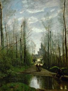 The Church of Marissel, Near Beauvais by Jean-Baptiste-Camille Corot