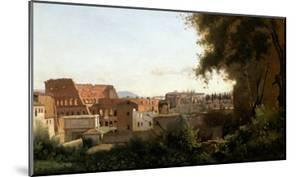 The Collosseum, Seen from the Farnese Gardens, 1826 by Jean-Baptiste-Camille Corot