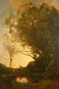 The Evening by Jean-Baptiste-Camille Corot