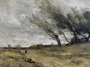 The Gust of Wind, 1870 by Jean-Baptiste-Camille Corot