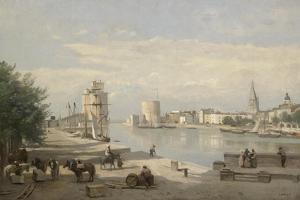 The Harbor of La Rochelle, 1851 by Jean-Baptiste-Camille Corot