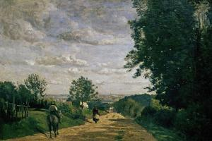 The Road To Sevres, 1858-1859 by Jean-Baptiste-Camille Corot