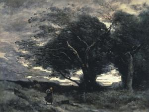 The Wind by Jean-Baptiste-Camille Corot
