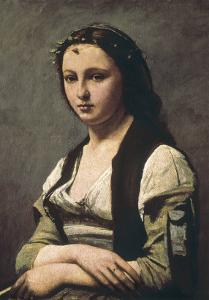The Woman with the Pearl (La Femme a La Perle) by Jean-Baptiste-Camille Corot