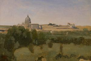 View of St. Peter'S, Rome, 1826 by Jean-Baptiste-Camille Corot