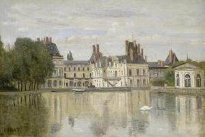 View of the Castle Fontainebleau by Jean-Baptiste-Camille Corot