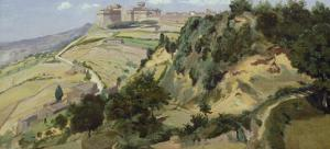 Volterra, 1834 by Jean-Baptiste-Camille Corot