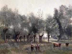 Women in a Field of Willows, 1860-65 by Jean-Baptiste-Camille Corot