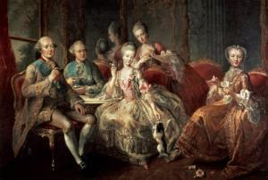 The Penthievre Family or the Cup of Chocolate, 1768 by Jean Baptiste Charpentier