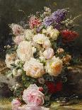 Pink and Yellow Roses-Jean Baptiste Claude Robie-Giclee Print