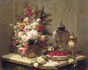 Tulips and Other Flowers by Jean Baptiste Claude Robie