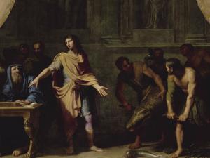 """Alexandre le Grand faisant porter à Aristote divers animaux étrangers afin qu'il écrive son """" by Jean-Baptiste de Champaigne"""