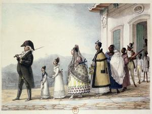 A Government Employee Leaving Home with His Family and Servants by Jean Baptiste Debret