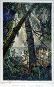 """Goyanas Indians, Pernam-Bouc, North East Brazil, from """"Voyage Pittoresque Et Historique Au Bresil"""" by Jean Baptiste Debret"""