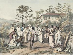 Group of Black Dancers by Jean Baptiste Debret