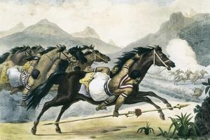 Guaicuru Riders by Jean Baptiste Debret