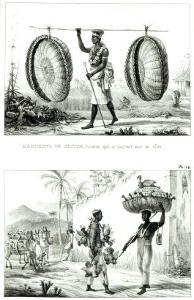 Head Baskets and a Poultry Seller, from Voyage Pittoresque et Historique Au Bresil by Jean Baptiste Debret