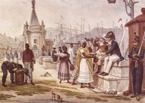 Light Refreshments after Lunch in the Palace Square by Jean Baptiste Debret