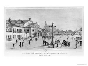 Temporary Acceptance of the Lisbon Constitution, Rio De Janeiro, 1821 by Jean Baptiste Debret