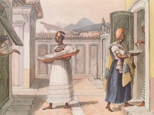 Travelling Saleswomen in Rio De Janeiro in 1827 by Jean Baptiste Debret