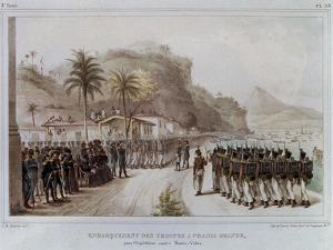 Troops in Prahia Grande for the 1811-14 Expedition Against Montevideo by Jean Baptiste Debret