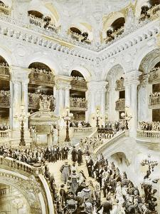 Inauguration of the Paris Opera House, 5th January 1875, 1878 by Jean-Baptiste Edouard Detaille