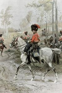 Officer of Hussars, 1889 by Jean Baptiste Edouard Detaille