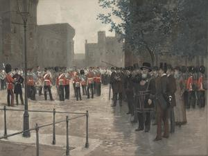 The Grenadier Guards, Tower of London, 1880 by Jean-Baptiste Edouard Detaille